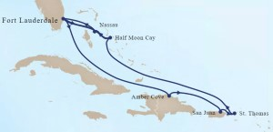 Holland America Line Bahamas & Eastern Caribbean Cruise itinerary