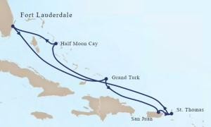 Holland America Line Eastern Caribbean Cruise itinerary