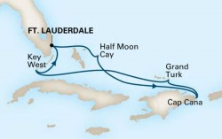 Holland America Tropical Caribbean cruise itinerary