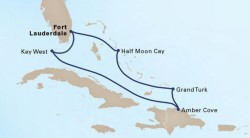 Tropical Caribbean Cruise itinerary