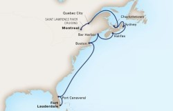 Canada, New England & Atlantic Coast Cruise itinerary