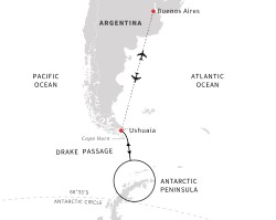 Hurtigruten Antarctica Voyage itinerary