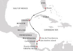 Hurtigruten Caribbean Voyage itinerary