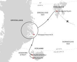 Hurtigruten Greenland - Iceland itinerary