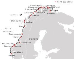 Hurtigruten Classic Norway itinerary