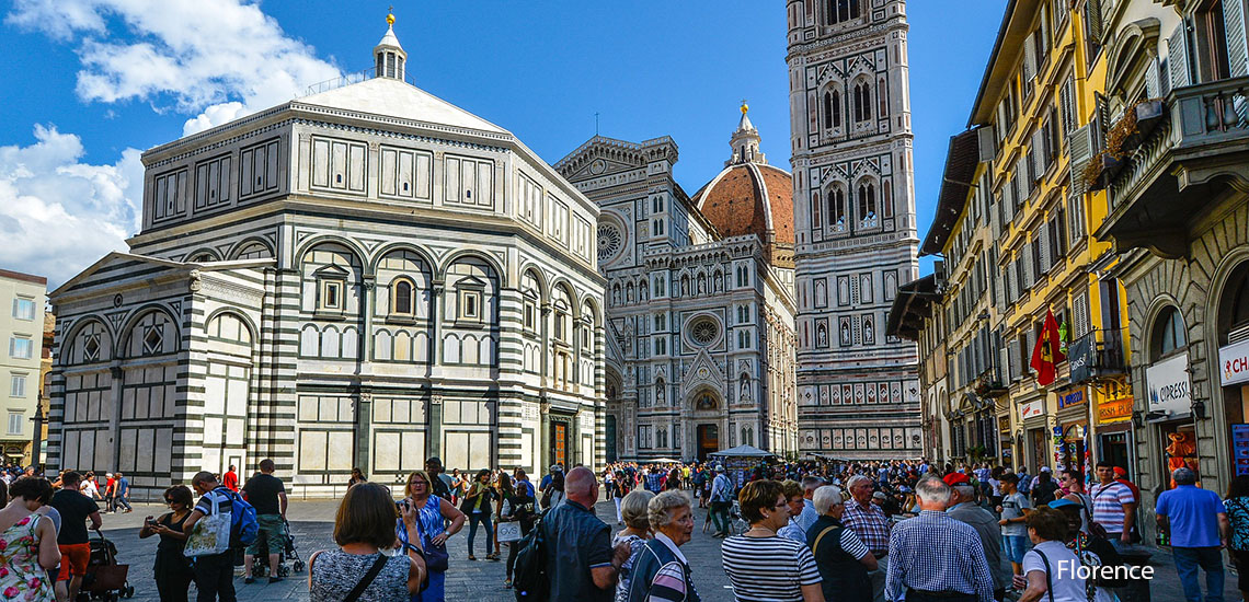 Tourist in Florence, Italy