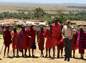 Bluegreen Host with Maasai people
