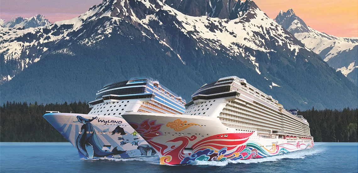 Norwegian Joy and Norwegian Bliss in Alaska