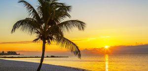 Key West sunset over the beach
