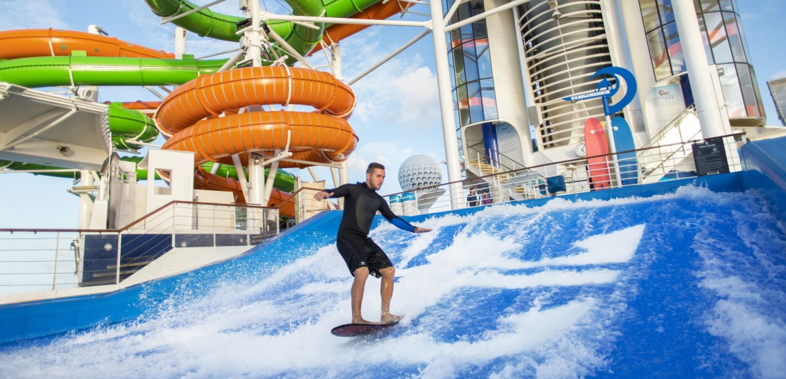 Man on Liberty of the Seas FlowRider