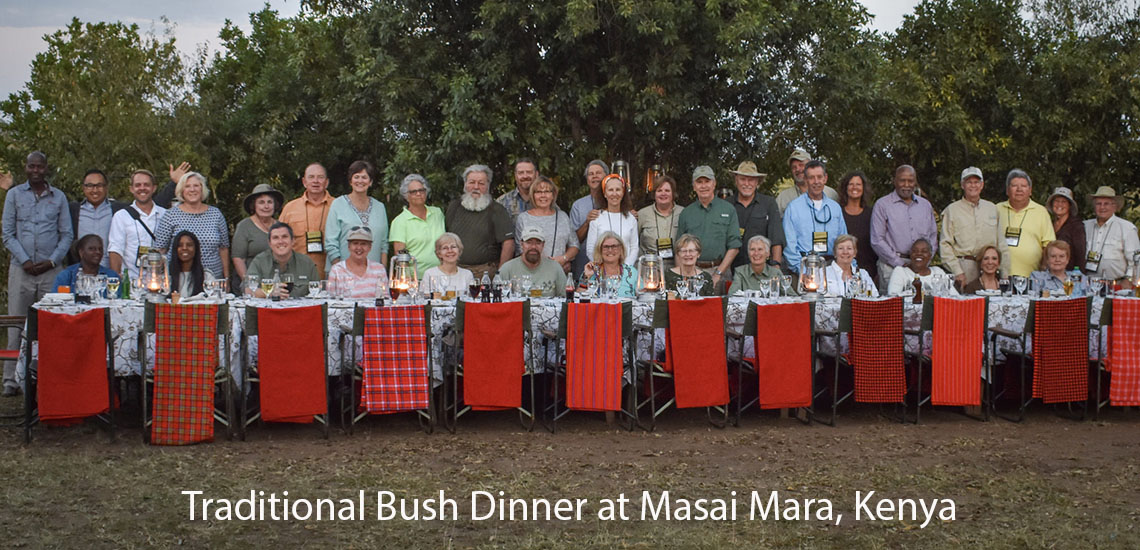 Owners at Maasai Mara Bush Dinner