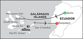 Monograms Galapagos Islands Tour itinerary