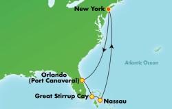 Bahamas & Florida Cruise itinerary