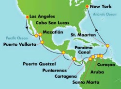 Norwegian Bliss Panama Canal Cruise itinerary