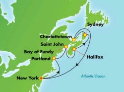 Norwegian Encore Canada New England Cruise itinerary