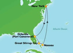 Norwegian Encore Florida Bahamas Cruise itinerary