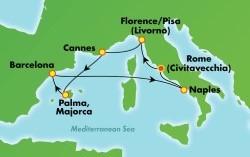 Norwegian Epic Western Mediterranean cruise itinerary