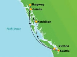 Norwegian Joy Alaska Highlights Cruise itinerary