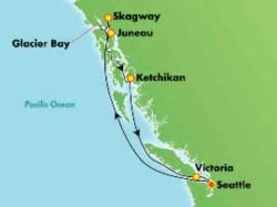 Norwegian Joy Awe of Alaska Cruise itinerary
