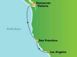 Norwegian Joy Pacific Coastal Charms Cruise itinerary