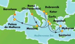 Norwegian Pearl Greek Isles & Italy Cruise itinerary