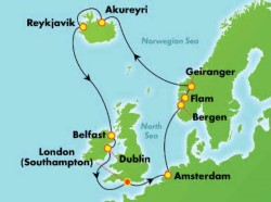 Norwegian Spirit Iceland, Ireland & Norway cruise itinerary