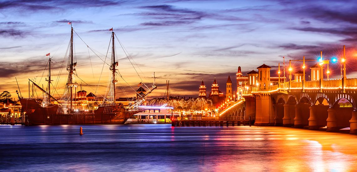Night Scene Seaport