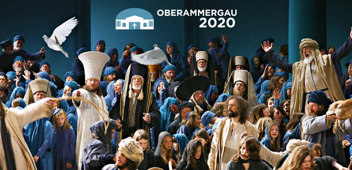 Oberammergau Moneychangers in Temple scene