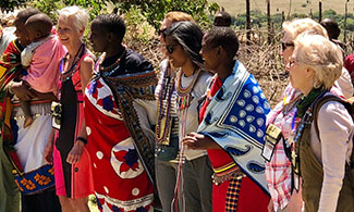 Owners with Maasai women
