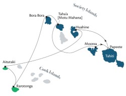 Cook Islands & Society Islands itinerary