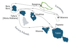 Society Islands & Tuamotus itinerary