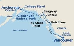 Alaska Voyage of Glaciers Northbound