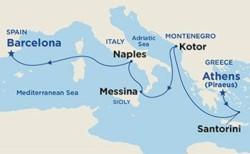 Princess Cruises Mediterranean & Adriatic Cruise itinerary