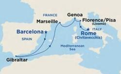 Princess Cruises Mediterranean Cruise itinerary