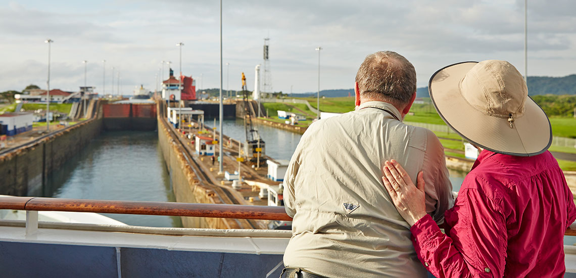 View From Deck in the Panama Canal Locks