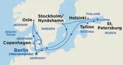 Princess Cruises Scandinavia & Russia Cruise itinerary