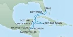 Regent Seven Seas Cruises Caribbean Cruise itinerary