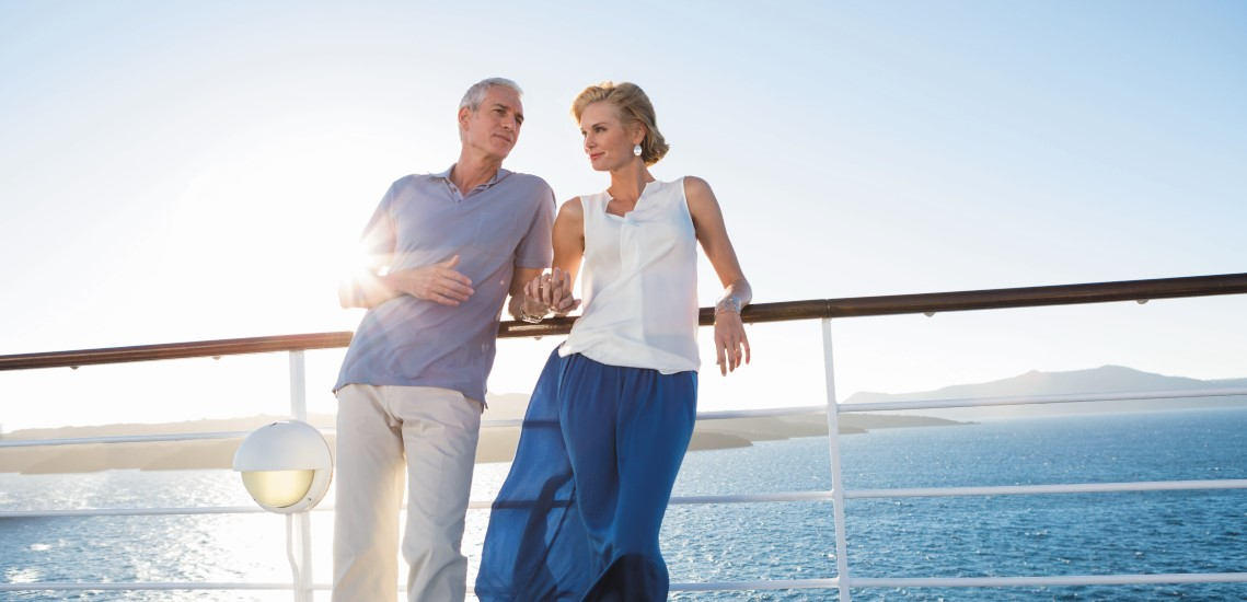 Regent Seven Seas Cruises couple onboard