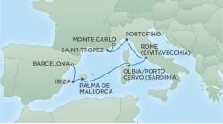 Regent Seven Seas Cruises Mediterranean Cruise itinerary