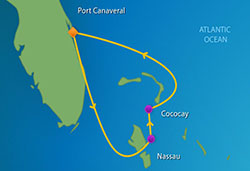 Royal Caribbean Bahamas Cruise itinerary