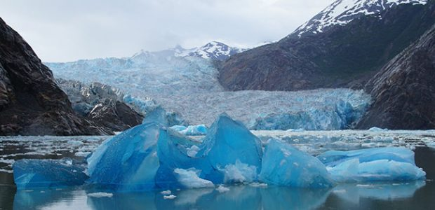 North Sawyer Glacier in Tracy Arm Fjord Alaska