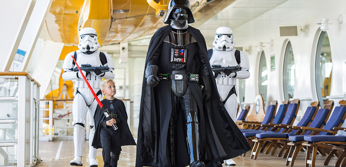 Disney Cruise Line Star Wars Day at Sea Darth Vadar character