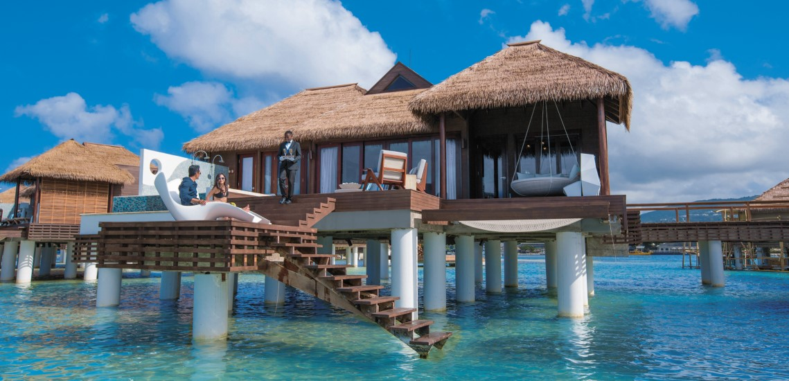 Sandals 174 Has Over The Water Bungalows In The Caribbean