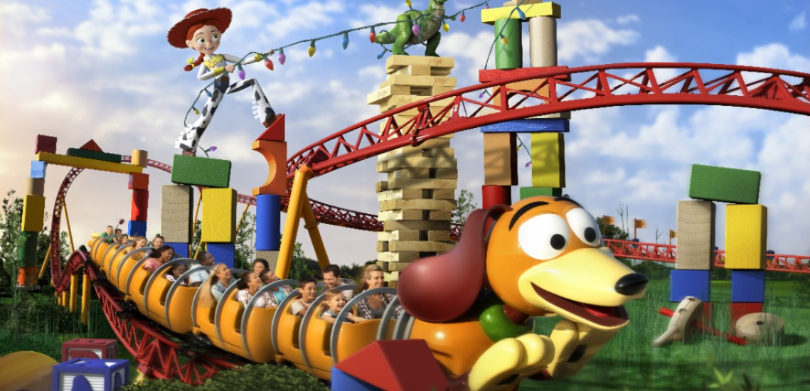 Slinky Dog Coaster in Disney's Hollywood Studios