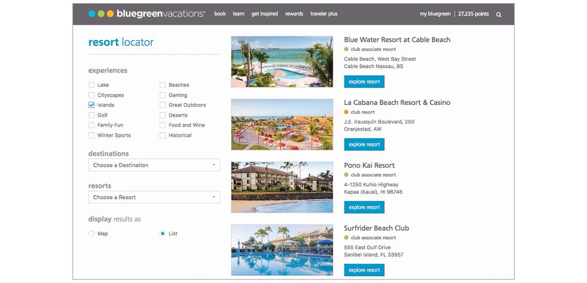 Resort locator